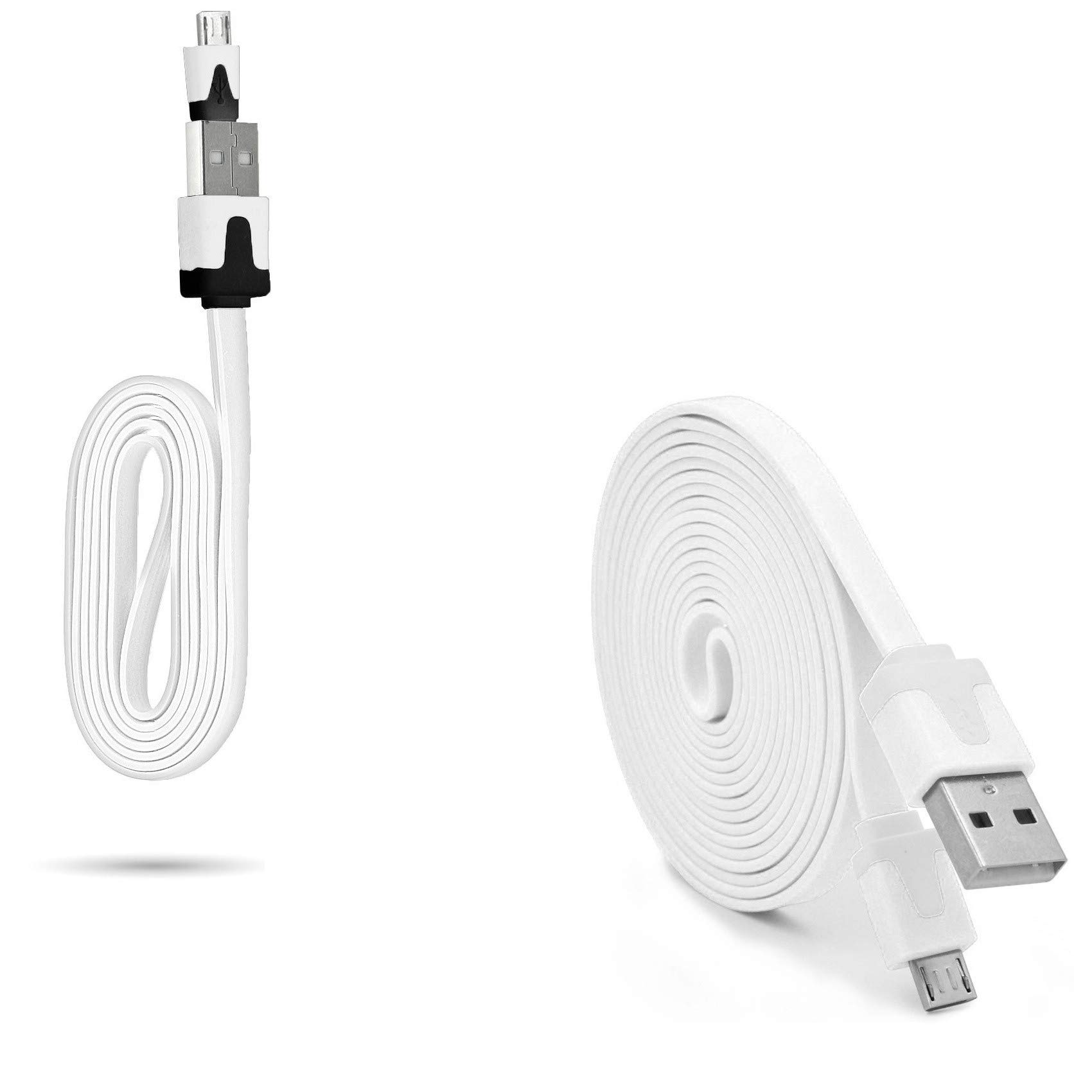 Pack Cargador para Microsoft Lumia 640 XL Smartphone Micro USB (Cable Noodle 3M + Cable Noodle de 1 m) Android (Blanco): Amazon.es: Electrónica