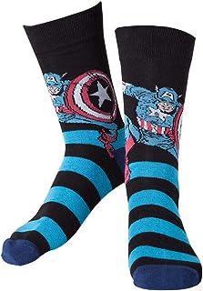 Marvel cr071006mar-39/42Calcetines de Capitán América (Talla 6–8/Mediana)