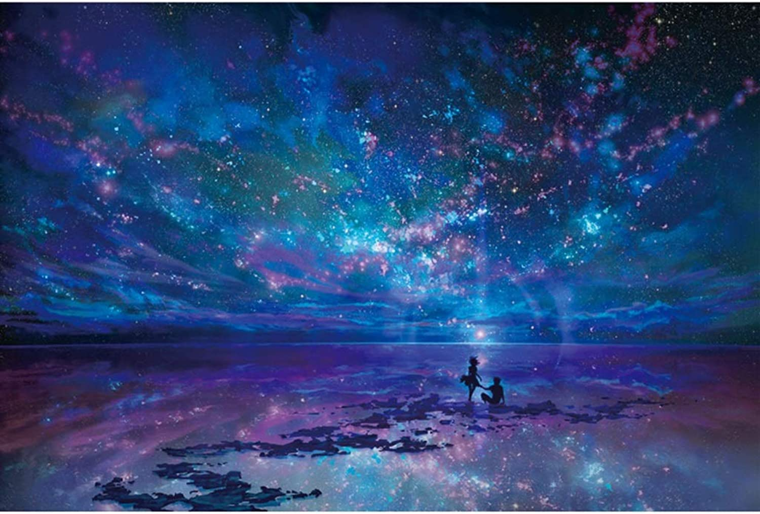 Basswood Jigsaw Puzzles Jigsaw Puzzles 1000 Pieces- Imagination Series Fantasy Romantic Star Sea