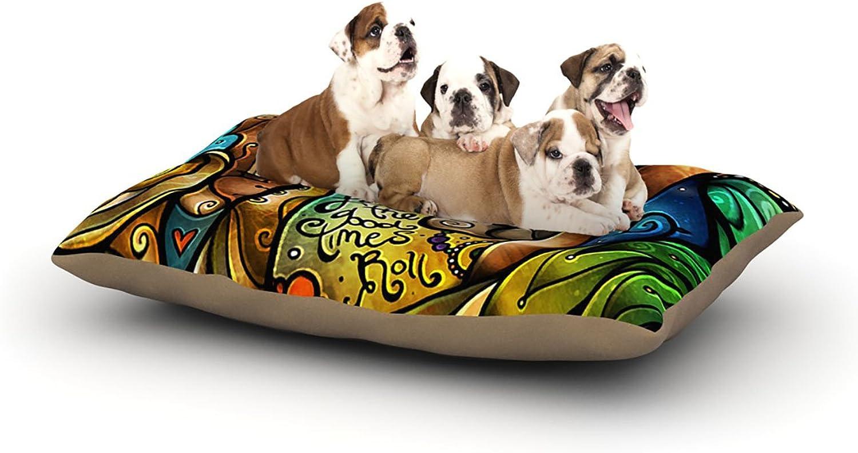 Kess InHouse Mandie Manzano Good Times Roll  Skull Dog Bed, 30 by 40Inch