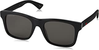 GG0008S Sunglasses 002 Black / Grey Polarized Lens 53mm