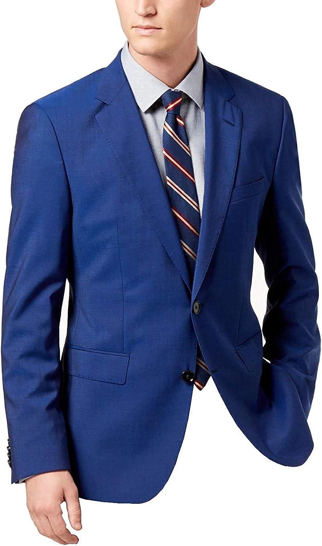Hugo Hugo Boss Mens Jeffery182 Wool Pindot Two-Button Suit Jacket