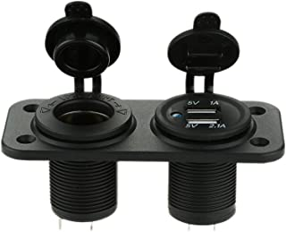 Ronben DIY USB 5V/1A 5V/2.1A Sockets with Cigarette Lighter Power Socket for Car Truck Motorcycle Boat for ATV