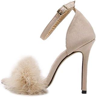 dd466bbc4d05f5 DOLDOA Chaussures à Talons Femme Rouge Escarpins Femme Talon Noir Chaussure  Mariage Femme Rose Sandales Femmes