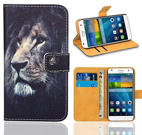 Huawei Ascend G7 Handy Tasche, FoneExpert® Wallet Case Flip Cover Hüllen Etui Ledertasche Lederhülle Premium Schutzhülle für Huawei Ascend G7 (Pattern 4)