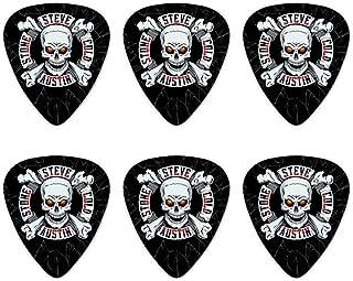 WWE Stone Cold Steve Austin Broken Glass Logo Novelty Guitar Picks Medium Gauge - Set of 6