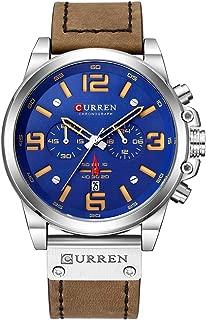 Reloj de Pulsera para Hombre (Cuarzo, indicador de Hora y Minuto, Correa de Piel)