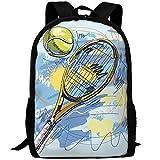 Cartable,Sac D'Étudiant De Raquette De Tennis, Sacs D'École Mous pour l'escalade Sportive,43x28x16cm