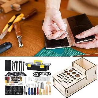 XDXDO Kit d'outils de Travail en Cuir, Kits d'artisanat en Cuir, kit d'outil en Cuir à Main avec boîte de Rangement, Autre...
