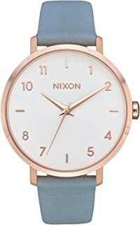 Nixon Arrow Leather A1091 Women's Watch (Rose Gold/Blue)