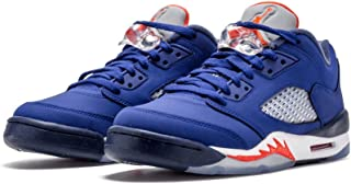 Boys Air Jordan 5 Retro Low GS Basketball Shoes Blue 314338-417