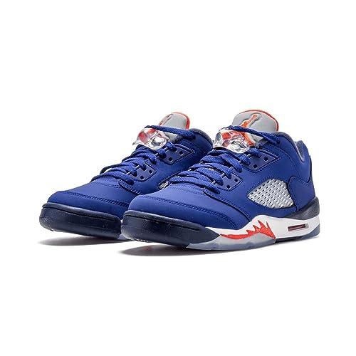 f5b1d45e81457e NIKE Boys Air Jordan 5 Retro Low GS Basketball Shoes Blue 314338-417