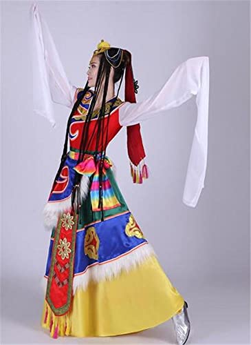 Peiwen Costume de Danse de Danse Classique féminine Spectacle de Danse Folklorique Stage Dance Show