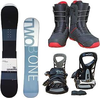 TWO B ONE メンズ スノーボード3点セット スノボー+バインディング+クイックシューレースブーツ