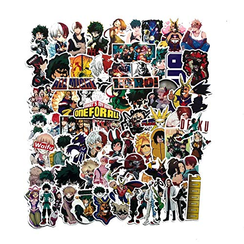 RSZHHL Car sticker Pegatina sticker for my hero academia, decal for notebooks and luggage for cars and refrigerator, in the form of sticker