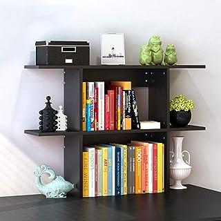 ZIEO Muebles Estantería pequeña de Escritorio Abierta Simple for CD, Discos, Libros, decoración del hogar Librerías (Color : Black, Size : 110x63x20cm)
