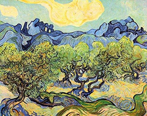The Museum Outlet – Paysage avec Oliviers par Van Gogh – Canvas Print Online Buy (152,4 x 203,2 cm)