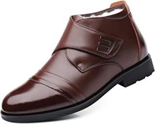 ZLY أحذية ثلج شتوية للرجال سهلة الارتداء مع الكاحل مبطنة بالفرو في الهواء الطلق دافئ أسود للجنسين