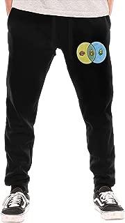 Candy Corn Venn Diagram Men's Long Pants Black