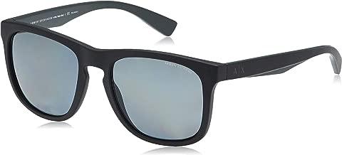 Armani Exchange Wayfarer Men's Sunglasses -Black 4058S-55-8199-81-55-13-145 mm