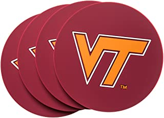 Virginia TECH Hokies 4-Pack NCAA PVC Coaster