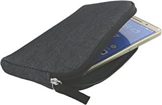 Made in Germany fitBAG Classic Schwarz Handytasche Tasche aus original Alcantara mit Microfaserinnenfutter f/ür Samsung Galaxy S5 H/ülle mit Reinigungsfunktion S5 Neo