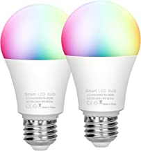 CSNDICE WiFi E26 Smart Bulb Colour Dimmable LED Light, 9w 80W Equivalent Bulb, Remote Control by...