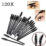 JZK 120 Einweg Wimpernbürsten Set Wimpernkamm Wimperntusche Pinsel Augenbrauen Mascara Bürste für Makeup