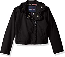 Limited Too Girls' Toddler Vegan Leather Moto Jacket with Ruffles