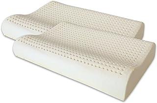 Marcapiuma - Paire d'oreillers Latex Modèle Cervicale - Coussin cervicale 100% Mousse de Latex Ultra Respirant Ergonomique...