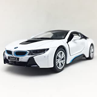 BMW i8 Plug-In Hybrid Sports Car White Color Kinsmart 1:36 DieCast Model Toy Car Collectible