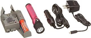 Streamlight 74361 Strion LED with 120V AC/12V DC Piggyback Charger, Pink - 260 Lumens