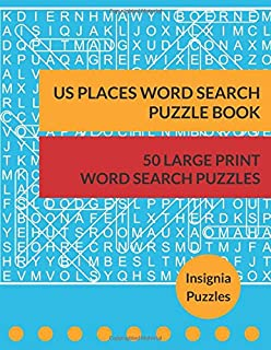 US Places Word Search Puzzle Book: One Puzzle Per Page