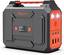 PRYMAX Portable Power Station, 167Wh Solar Generator Backup Battery Pack Power Supply with LED Flashlight,110V/100W(Peak 200W), AC Outlet, QC3.0 USB,for Outdoors Camping Travel Emergency