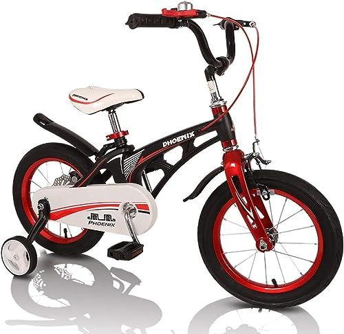 conveniente Fenfen 3-8 3-8 3-8 años Bicicletas para Niños Bicicletas para Niños de 12 Pulgadas   14 Pulgadas   16 Pulgadas aleación de magnesio para hombres y mujeres bebé Pedales Triciclo negro (Tamaño   12 Pulgadas)  precios bajos todos los dias