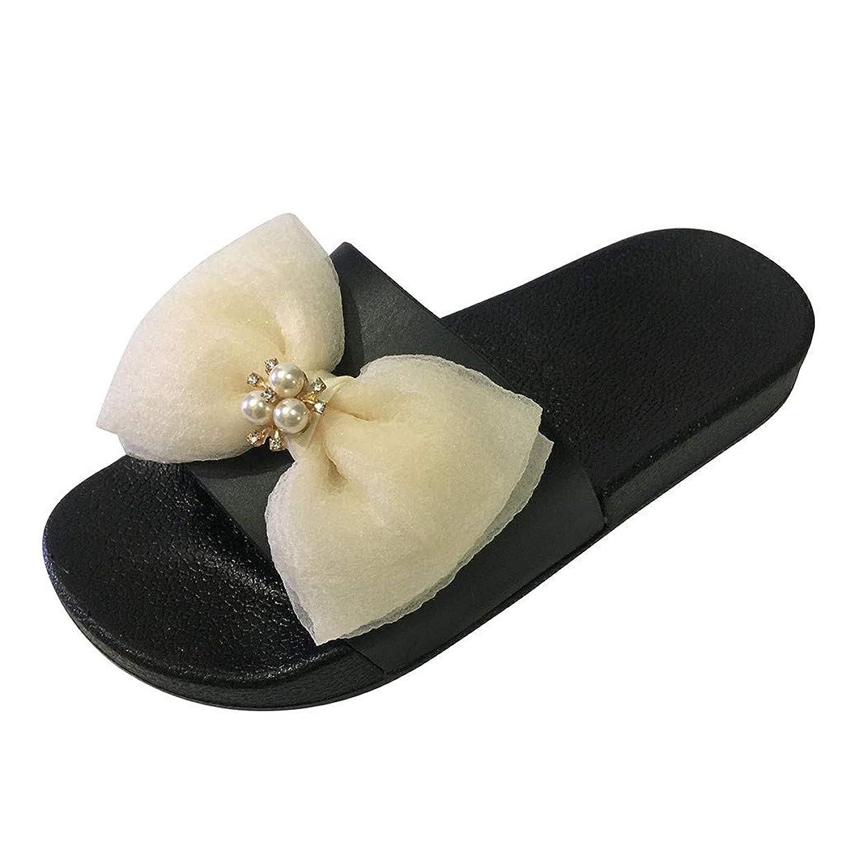 援助六月不満幸運な太陽 レディース スリッパ シューズ ローヒール 厚底 2cmヒール 弓 ラインストーン ビーチサンダル 婦人靴 室内履き 軽量 歩きやすい