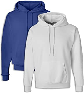 1 White Hanes P170 Mens EcoSmart Hooded Sweatshirt XL 1 Deep Royal
