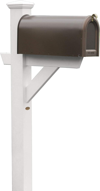 Highwood AD-MLBX1-WHE Hazelton Mailbox Post, Standard, White
