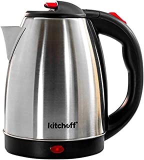Kitchoff KL4 Automatic Stainless Steel Electric Kettle Heavy Body Extra Large Cattle With Handle (1.8 L, Silver & Black)