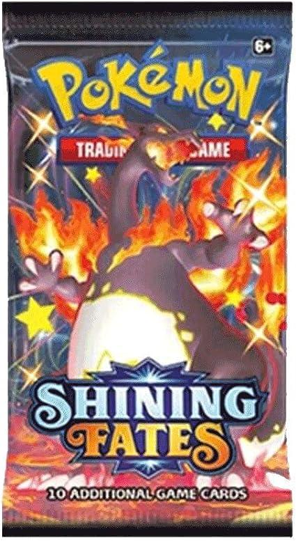 Pokemon Mystery Power Box; 3 Packs Guaranteed; 1x Shining fates 5 Holo Premade