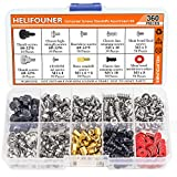 HELIFOUNER 360 Pieces Computer Standoffs Screws Assortment Kit for Hard Drive Computer Case Motherboard Fan Power Graphics