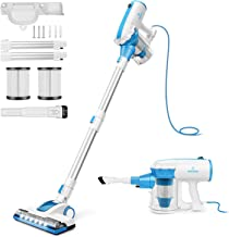 MOOSOO Vacuum Cleaner Corded with Motorized Brush Stick Vacuum with Swivel Steering and..