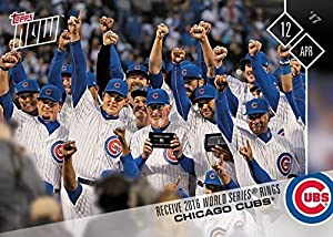 2017 Topps Now #40 Chicago Cubs Receive 2016 World Series Championship Rings Baseball Card - Kyle Schwarber, Anthony Rizzo, Joe Maddon, Kris Bryant, David Ross