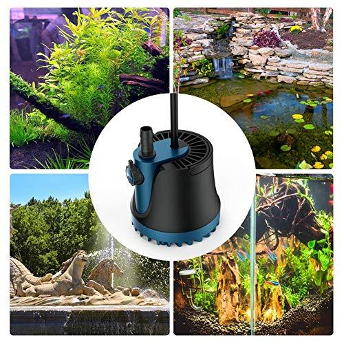 Wood.L Aquarium Pumpe 1800/2500/3000L/H Tauchpumpe Wasserpumpe aus Keramik Wasserpumpe Tauchpumpe Förderpumpe Aquariumpumpe Ultra-Quiet Teichpumpe 25/35/60w ideal