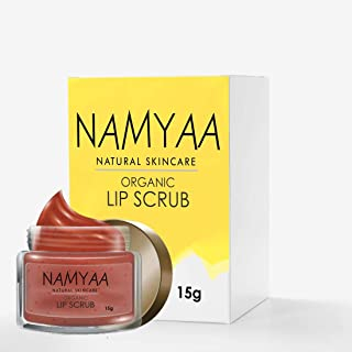 Namyaa Organic Lip Scrub, Coconut, Glycerin and Other Natural Ingredients, Softens Smooth Exfoliates Lips, 15g