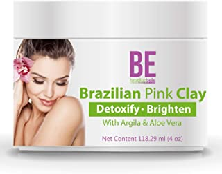 Brazilian Pink Clay Face Mask - All Natural Acne and Blackhead Remover Facial - 4oz
