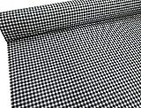 Confección Saymi Metraje 2,45 MTS Tejido Vichy, Cuadro pequeño 5x5 mm. Color Negro, con Ancho 2,80 MTS.