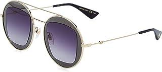 Gucci GG0105S 001 Montures de lunettes, Gris (Ruthenium/Grey), 47 Femme