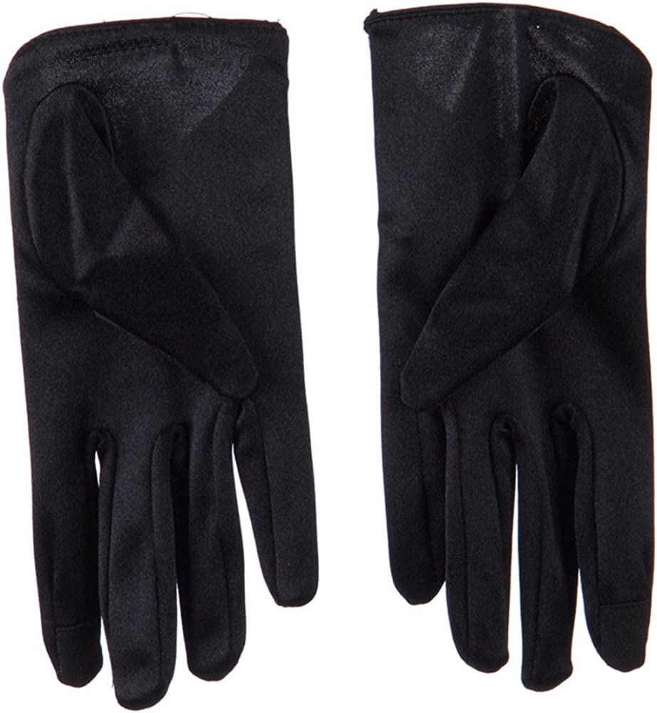 Women's Satin Low Cut Glove With Bow Accent - Black W17S45B
