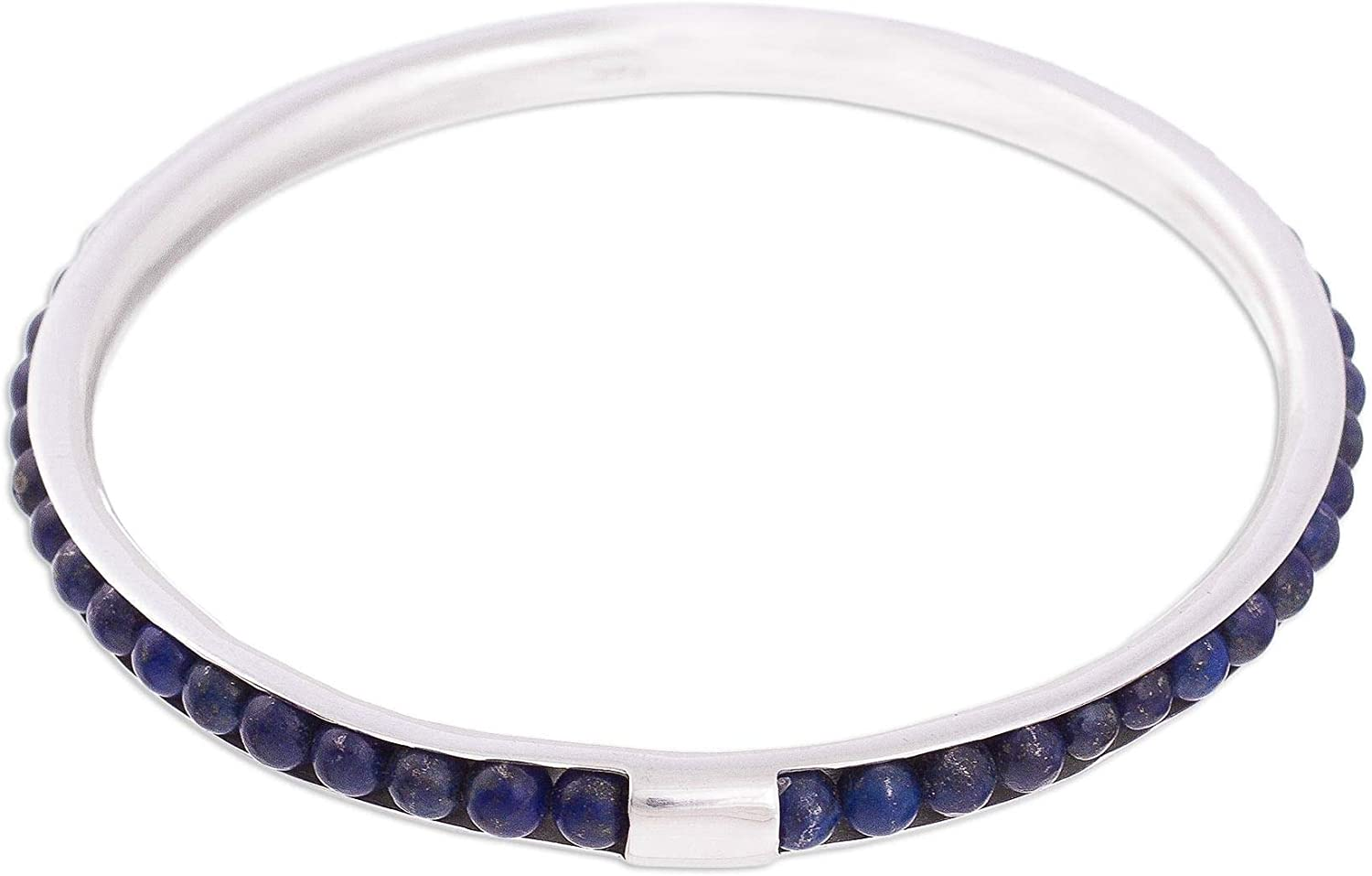 Year-end gift NOVICA Lapis Lazuli .925 Sterling Silver 8.25